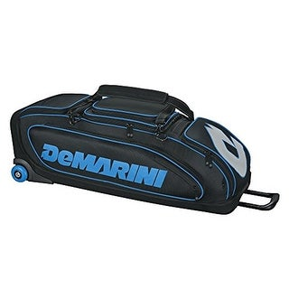2018 DeMarini Special Ops Wheeled Bag, Black/Hyper Blue
