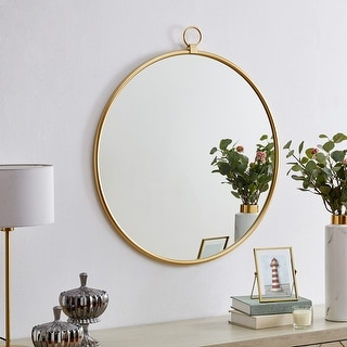 Link to FirsTime & Co.® Marshall Gold Round Mirror, American Crafted, Gold, Mirror, 32.5 x 1 x 36 in - 32.5 x 1 x 36 in Similar Items in Mirrors