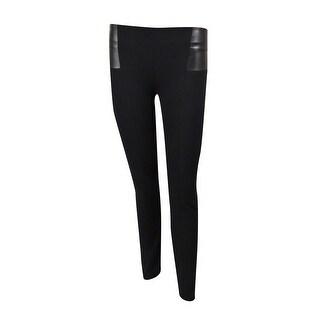 INC International Concepts Women's Faux Leather Trim Pants