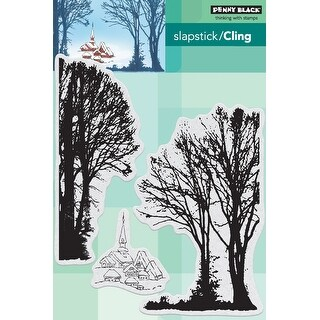 Penny Black Cling Stamps-Snowy Village