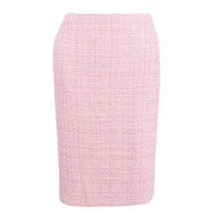 Tahari ASL Women's Boucle Tweed Pencil Skirt - palm pink