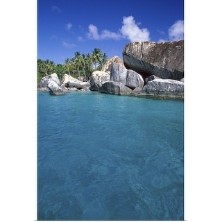 """""""Rock formations on tropical beach"""" Poster Print"""