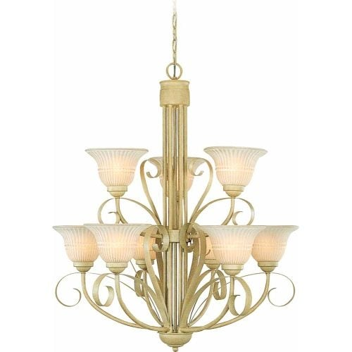 Volume Lighting V3329 Florentia 9 Light 2 Tier Chandelier
