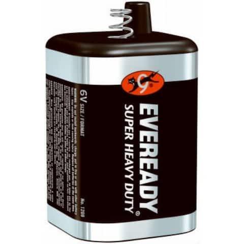 Eveready 1209 Super Heavy Duty Lantern Battery, Spring Terminal, 6 Volt