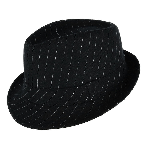5ab156908c17a Shop Westend Men s Pinstriped Trilby Fedora Hat with Matching Band - Free  Shipping On Orders Over  45 - Overstock - 25073995