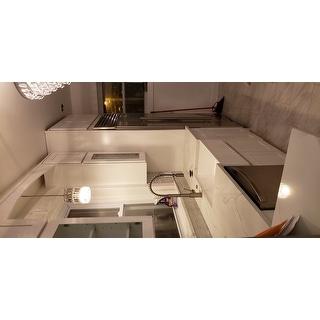 VIGO White 30-inch Matte Stone Farmhouse Kitchen Sink