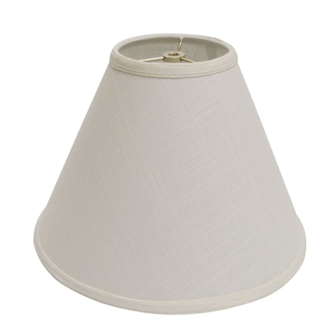 Cloth & Wire Slant Deep Cone Hardback Lampshade with Washer Fitter