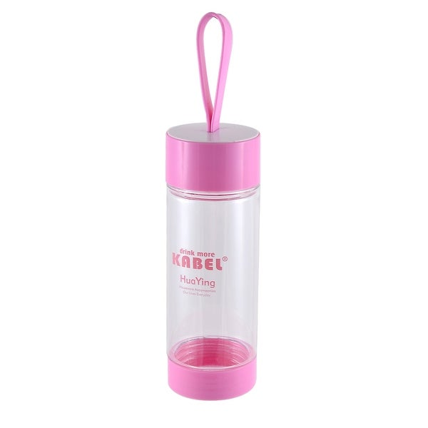 Portable Handhold Camping Drinking Cup Tea Water Bottle 480ML Pink