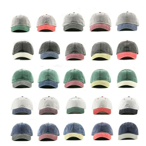 f99dd59f8389e Newhattan Cotton two-toned pigment dyed baseball caps with Adjustable strap