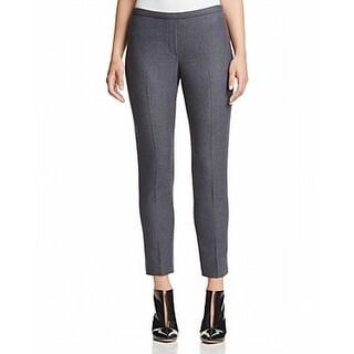 Elie Tahari NEW Gray Women's Size 0X29 Marcia Solid Dress Pants Wool