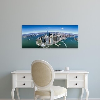 Easy Art Prints Panoramic Images's 'Aerial view of the cityscape, New York City, New York State, USA' Canvas Art