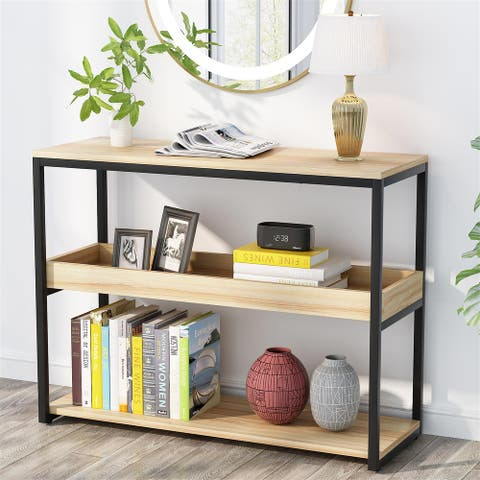 """39""""Console Table Sofa Table Entryway Table Side Tablewith Storage"""