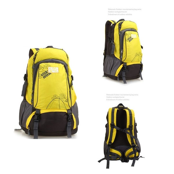 8a9f569144ec Sports Bag Men Women Outdoors Water-resistant Camping Backpack Hiking  Travel Mountaineering - Yellow