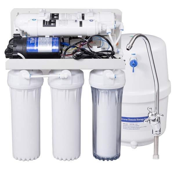 Costway 5-Stage Ultra Safe Reverse Osmosis Drinking Water Filter System Purifier White  sc 1 st  Overstock.com & Shop Costway 5-Stage Ultra Safe Reverse Osmosis Drinking Water ...