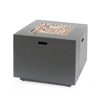 """Link to Wellington Outdoor 33-Inch Square Fire Pit by Christopher Knight Home - 33.00"""" W x 33.00"""" D x 24.00"""" H Similar Items in Fire Pits & Chimineas"""