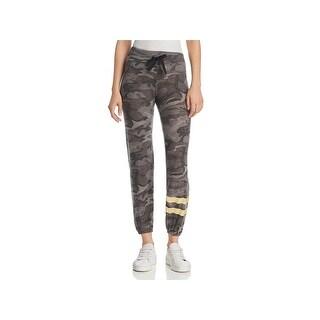Sundry Womens Juniors Sweatpants Camouflage Foil Stripes