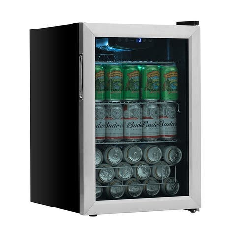 "EdgeStar BWC91 17"" Wide 80 Can Capacity Extreme Cool Beverage Center - Stainless Steel"