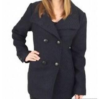Jessica Simpson NEW Black Belted Dot Women's Size Large L Coat Jacket