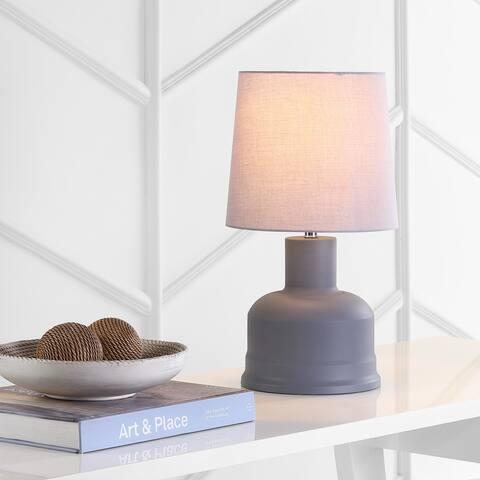 "Safavieh Lighting 19-inch Dahlia Grey LED Table Lamp (Set of 2) - 10""x10""x18.5"""