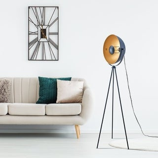 """Link to Archiology 63"""" Retro Industry Tripod Floor Lamp - Black/Gold Similar Items in Floor Lamps"""