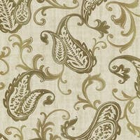 Brewster 2618-21307 Darro Gold Global Paisley Wallpaper - gold paisley