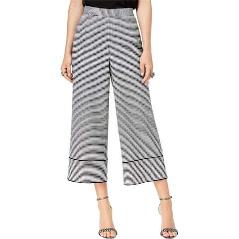 Rachel Zoe Womens Houndstooth Culotte Pants