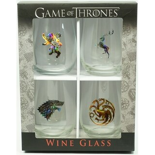 Game of Thrones Stemless Wine Glasses Set of 4