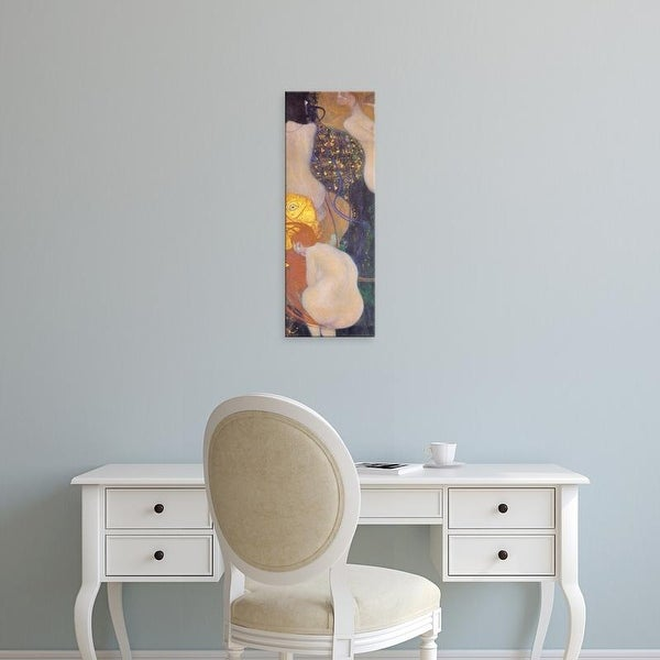 Easy Art Prints Gustav Klimt's 'Goldfish' Premium Canvas Art