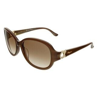 Salvatore Ferragamo SF703SR Oval Sunglasses