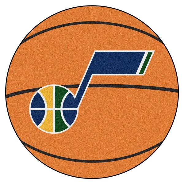 75288daf532a Shop NBA Utah Jazz Basketball Shaped Mat Area Rug - Free Shipping On Orders  Over  45 - Overstock - 22617410
