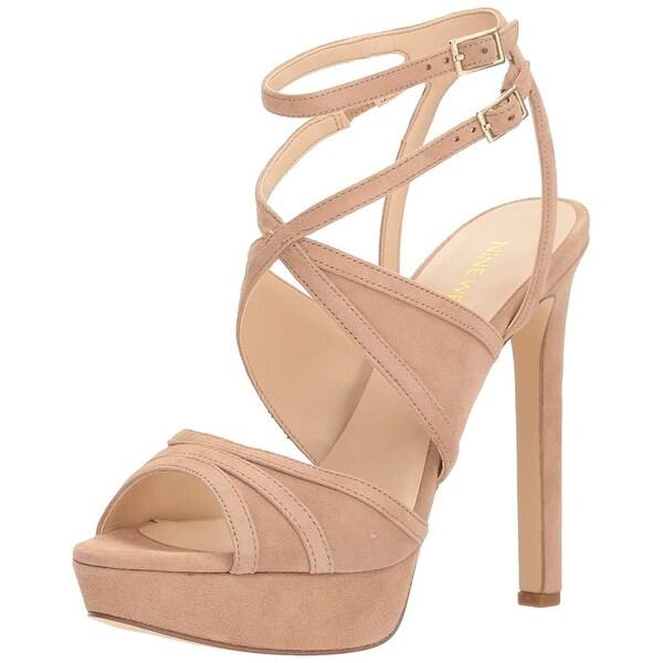 Nine West Women's Valeska Suede Heeled Sandal - 10.5