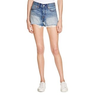 Levi's Womens Wedgie Fit Cutoff Shorts High Rise Button Fly