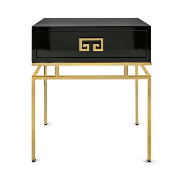 "IMAX Home 14849 Gokey 24"" Wide MDF Top Steel Side Table - Black"