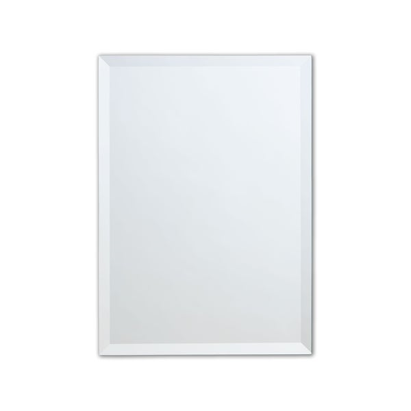 Frameless Beveled Rectangle Wall Mirror, Copper-Free - Clear. Opens flyout.