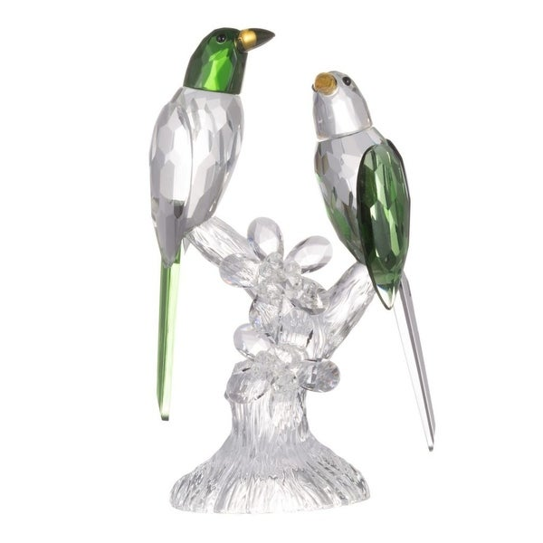 """9"""" Crystal Clear and Green Parrot Elegance Duo Accent - N/A"""