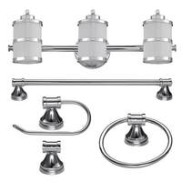 "Globe Electric 51285 Kennewick 3 Light 22-1/2"" Wide Bathroom Vanity Light Packag - Polished chrome"