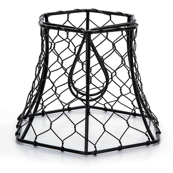 "Metal Chickenwire Hexagon Lampshade 5.75""X4""-"