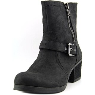 Carlos by Carlos Santana Rolla Women Round Toe Synthetic Black Ankle Boot