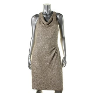 Lauren Ralph Lauren Womens Metallic Halter Clubwear Dress