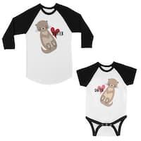 Motter Dotter Mom and Baby Matching Baseball Shirts New Mom Gifts
