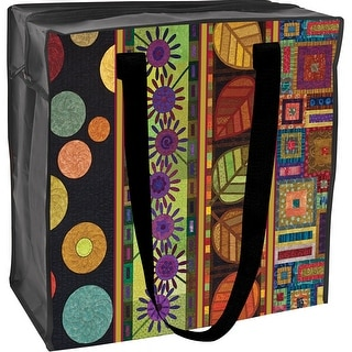 "Eco Tote-15.5""X15""X8"" Skinny Quilts - Black"