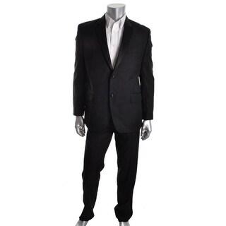 Izod Mens Notch Collar Satin Trim Tuxedo