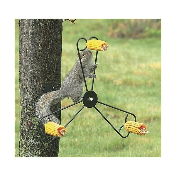 Whirly Spinning Steel Squirrel Feeder