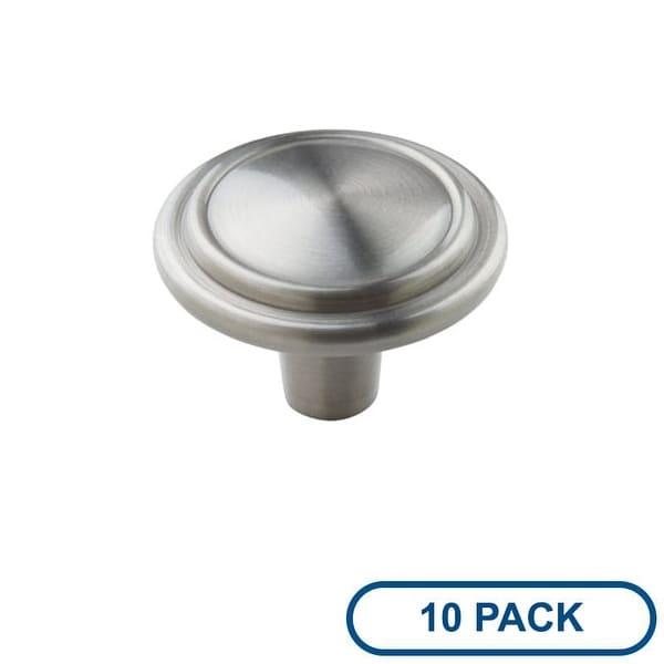 Amerock BP29113-10PACK Allison Value Hardware 1-1/4 Inch Diameter Mushroom Cabinet Knob - Package of 10