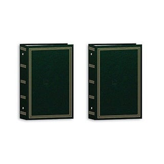 Pioneer Photo Albums Pocket 3-RING Album 4X6 3-UP 504 Photo Hunter Green - Two Pack