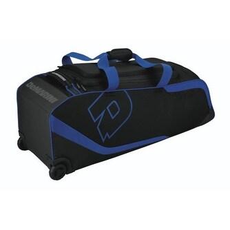 DeMarini WTD9201 4 Bat ID2P Wheeled Baseball/Softball Equipment Bag (Royal Blue)