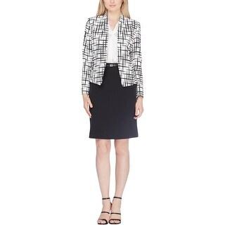 Tahari ASL Womens Petites Skirt Suit Professional Business Attire - 6P