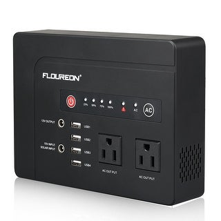 FLOUREON 146W Portable Power Bank Two Socket Solar Generator Supplier for Hiking Camping Outdoors Home, AC120V