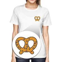 Pretzel Pocket T-shirt Back To School Tee Ladies Cute Shirt