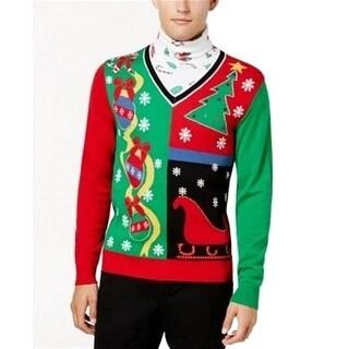 American Rag NEW Red Mens Size Medium M Holiday Turtleneck Sweater
